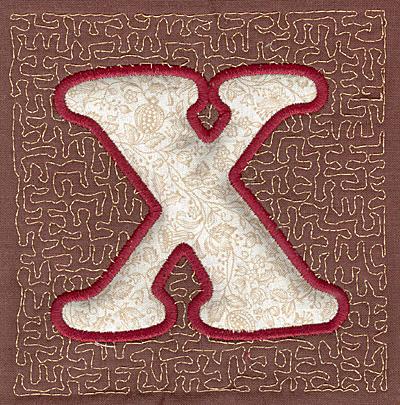 Embroidery Design: X Stipple A3.94w X 3.82h