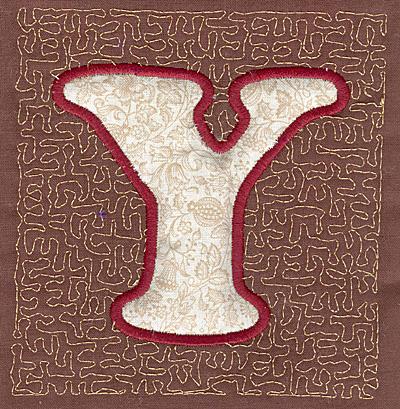 Embroidery Design: Y Stipple A4.00w X 3.82h