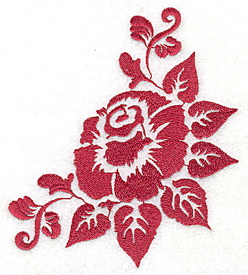 Embroidery Design: Stencil Flower C large 4.42w X 4.95h