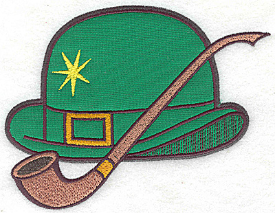 Embroidery Design: Irish Derby hat applique large 6.12w X 4.65h