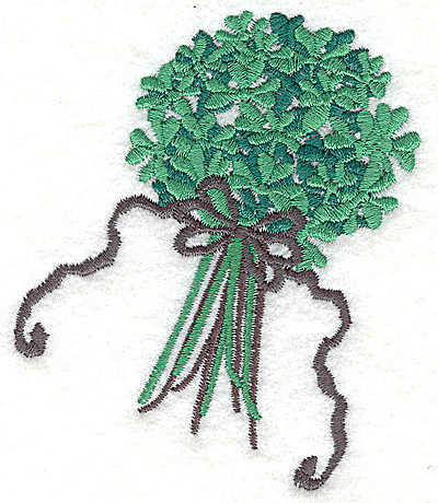 Embroidery Design: Bouquet of shamrocks small 3.29w X 3.85h