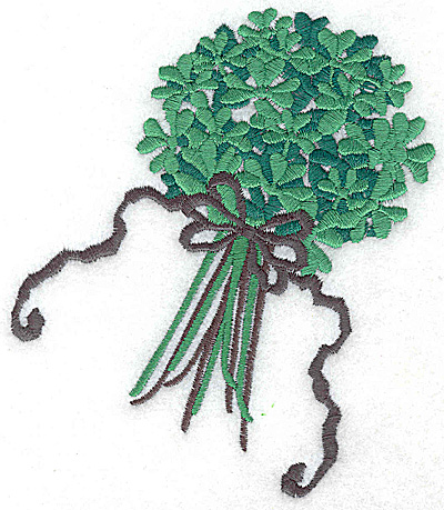 Embroidery Design: Bouquet of shamrocks large 4.24w X 4.97h
