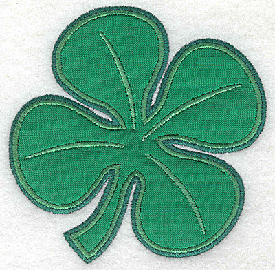 Embroidery Design: Clover applique medium 4.03w X 4.06h