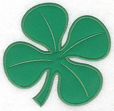 Embroidery Design: Clover applique large 5.13w X 4.99h