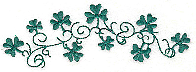 Embroidery Design: Shamrock and swirls large 4.98w X 1.72h