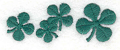 Embroidery Design: Shamrock row small 2.42w X 0.90h