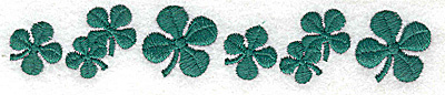 Embroidery Design: Clover row large 4.93w X 0.90h