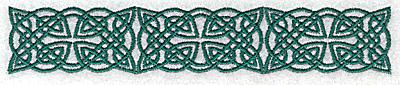 Embroidery Design: Celtic symbol row 5.84w X 1.06h