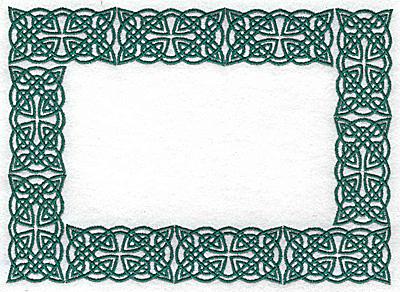 Embroidery Design: Celtic border 6.90w X 4.95h