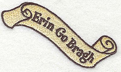 Embroidery Design: Erin Go Bragh 3.82w X 2.12h