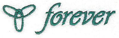 Embroidery Design: Forever 3.51w X 1.00h