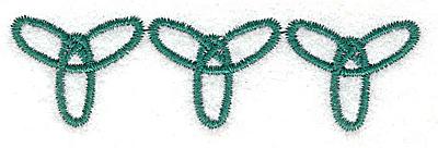 Embroidery Design: Forever symbol trio 3.19w X 0.88h