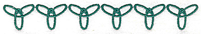 Embroidery Design: Forever symbol row 6.39w X 0.88h