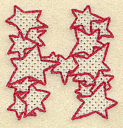 Embroidery Design: H small 1.94w X 1.99h