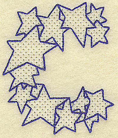Embroidery Design: C large 2.95w X 3.51h
