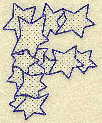 Embroidery Design: F large 2.81w X 3.50h