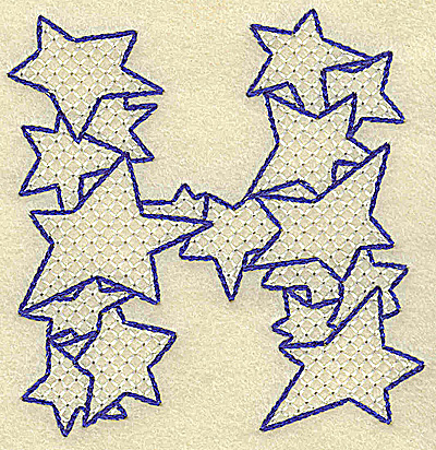 Embroidery Design: H large 3.41w X 3.50h