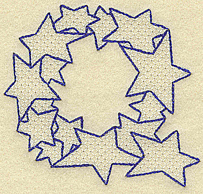 Embroidery Design: Q large 3.90w X 3.53h