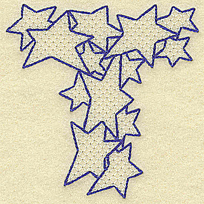 Embroidery Design: T large 3.45w X 3.49h