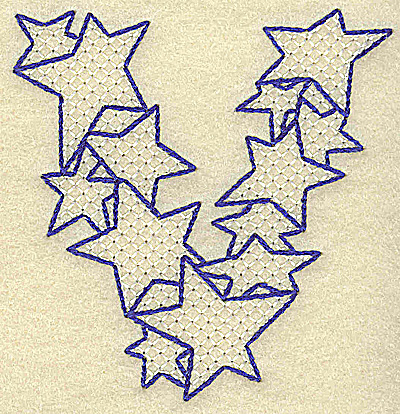 Embroidery Design: V large 3.37w X 3.51h