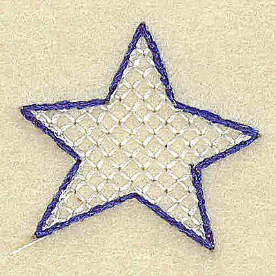 Embroidery Design: Period star large 1.45w X 1.40h
