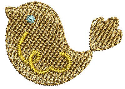 Embroidery Design: Birdie 1 1.12w X 0.81h