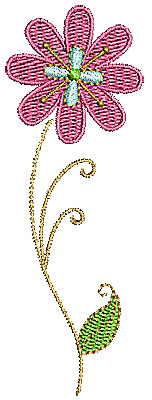 Embroidery Design: Summer flower 1 1.37w X 3.86h