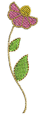 Embroidery Design: Summer flower 2 0.77w X 2.81h