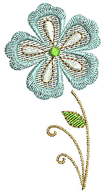 Embroidery Design: Summer flower 3 1.60w X 3.12h