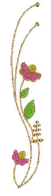 Embroidery Design: Summer flowers 1 1.13w X 6.48h
