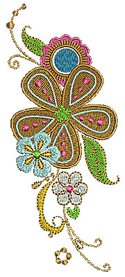 Embroidery Design: Summer flowers 3 2.49w X 6.00h