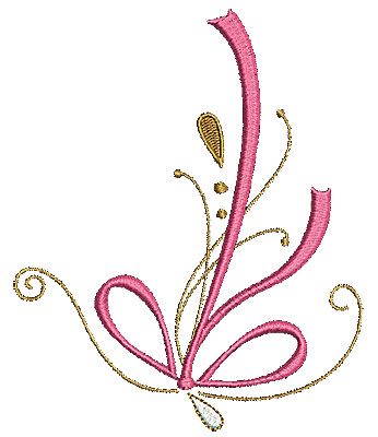 Embroidery Design: Summer floral  4.53w X 5.46h
