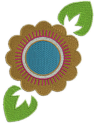Embroidery Design: Summer flower 7 4.72w X 6.36h