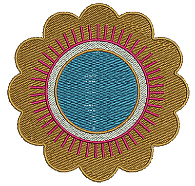 Embroidery Design: Summer flower 8 4.01w X 3.94h