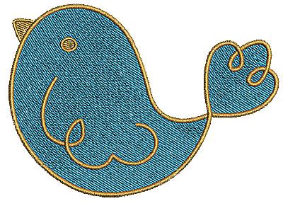 Embroidery Design: Birdie 2 4.72w X 3.37h