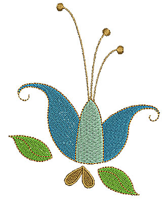 Embroidery Design: Summer flower 9 3.92w X 5.00h