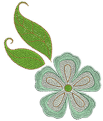 Embroidery Design: Summer flower 10 4.13w X 5.00h