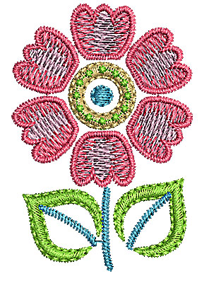 Embroidery Design: Summer flower 11 1.37w X 2.01h