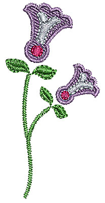 Embroidery Design: Summer flower 14 1.33w X 2.75h