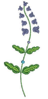 Embroidery Design: Summer flower 16 2.44w X 6.50h