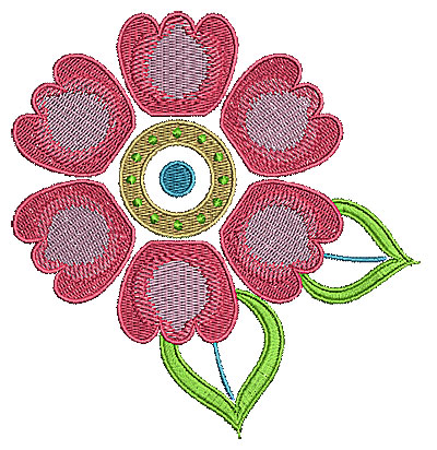Embroidery Design: Summer flower 17 4.96w X 5.18h