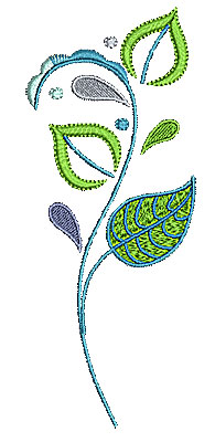 Embroidery Design: Summer flower 18 2.61w X 6.50h