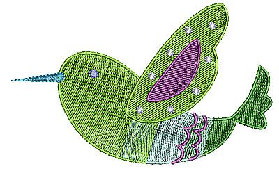 Embroidery Design: Birdie 4 4.96w X 3.79h