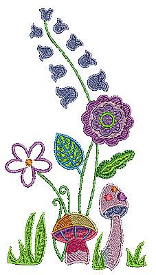 Embroidery Design: Summer floral garden 2 3.61w X 6.69h