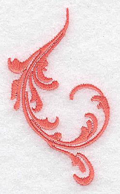Embroidery Design: Swirl element 1A 1.77w X 3.08h