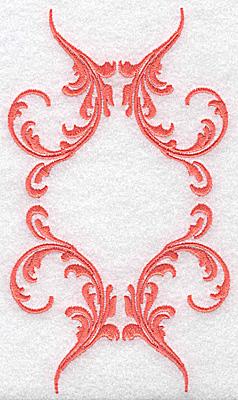 Embroidery Design: Swirl element 1E 3.59w X 6.28h