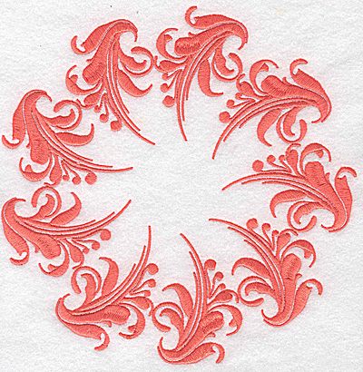 Embroidery Design: Swirl element 2C 7.76w X 7.72h