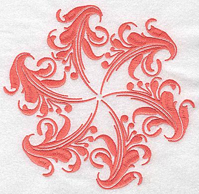 Embroidery Design: Swirl element 2D 6.43w X 6.13h