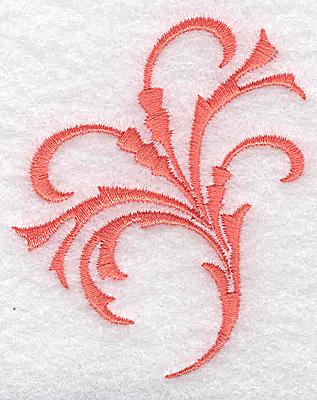Embroidery Design: Swirl element 3A 2.40w X 2.90h