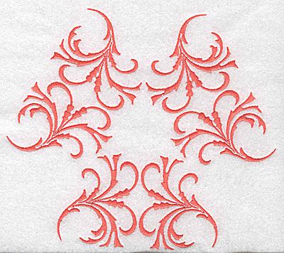 Embroidery Design: Swirl element 3D 7.74w X 6.71h